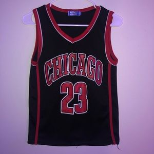 Black and red Chicago Bulls tank top